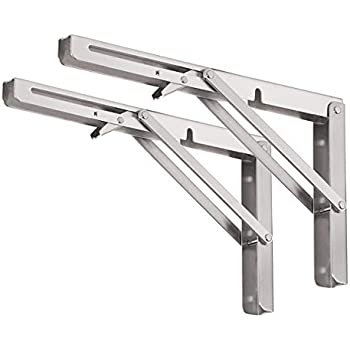 Careful Wall Mounted Folding Table Shelf Support Bracket Spring Pair Thicken Stainless Steel Table Bracket Automobiles & Motorcycles