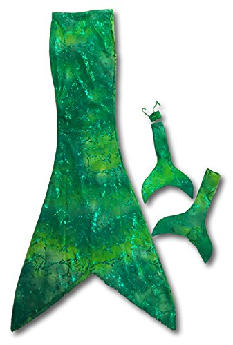 Mermaid Tail: Play Tail w/matching Ken & Barbie Tails Bundle (Green, Ch S)