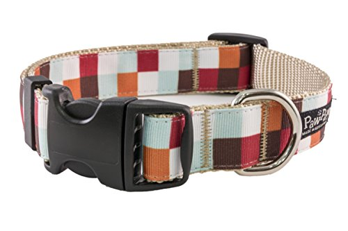 Paw Paws USA Hula Block Dog Collar, Medium, Multicolored ()