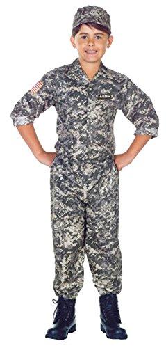 Underwraps Children's Army Camo Set Costume - Camouflage, Medium -