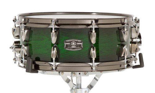 (Yamaha LNS-1455EWS 14-Inch Live Custom Snare Drum, Emerald Shadow)