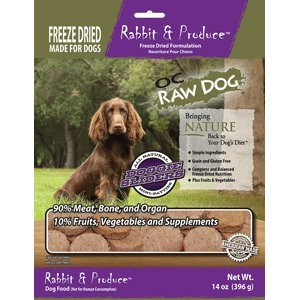 OC Raw Freeze Dried Rabbit & Produce Sliders 14oz For Sale