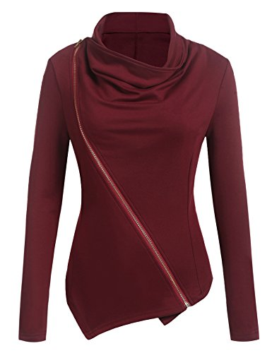 womens cowl neck jacket - 1