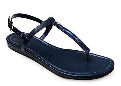 Cole Haan Womens Boardwalk Thong Sandal Blazer Blue Leather Flat Shoes. pa1zuTC