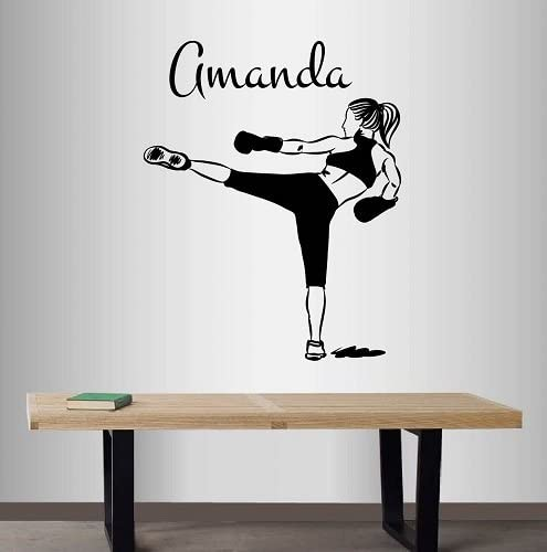 KICK BOXING WALL STICKER 3D LOOK BEDROOM LOUNGE MARTIAL ARTS WALL DECAL Z713