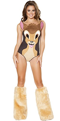 Bambi Halloween Costumes (Bambi Girl Halloween Costume - Brown - Large)