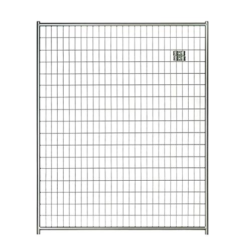 Lucky Dog 6'H x 5'W Silver Welded Wire Modular Panel
