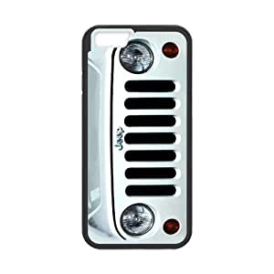 White Silver Jeep Wrangler iPhone6 4.7 by runtopwell