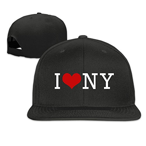 I Love NY New York Design Snapback Hip Hop Flat Bill Baseball Caps For Men Women