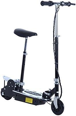 HOMCOM Scooter Plegable Niño Patinete Eléctrico Monopatín Ajustable Carga 50kg