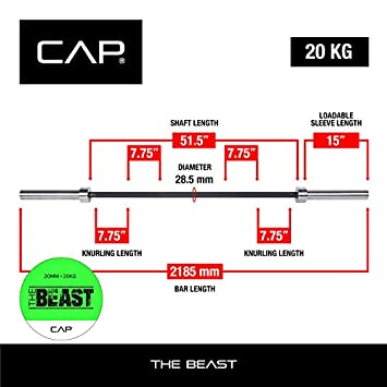 CAP Barbell The Beast Bar 7-Foot Olympic Barbell