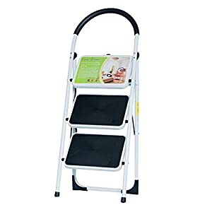 GOOD LIFE EN131 Folding 3 Step Ladder Home Depot Steel Step Ladders Lightweight 300 lb Capacity with Hand Grip Anti-slip and Wide Pedal HMI093  sc 1 st  Amazon.com : jml folding plastic step stool - islam-shia.org