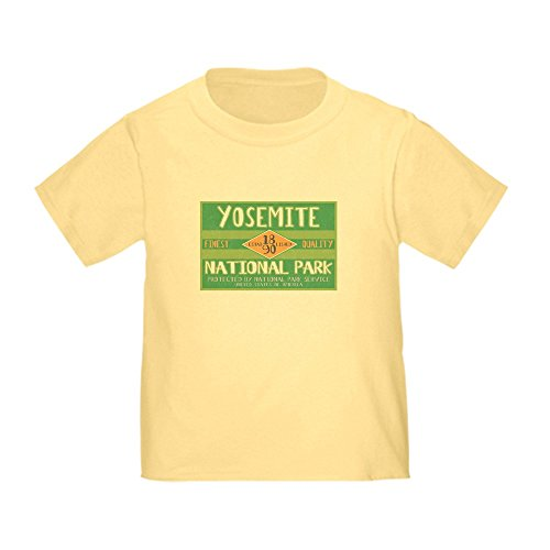 CafePress - Yosemite National Park (Retro) Toddler T-Sh - Cute Toddler T-Shirt, 100% (Climbing El Capitan Yosemite)