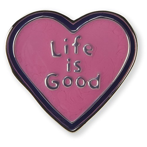 Life is good Unisex Pin Heart, Pop Pink, One - Sunglasses 670 1