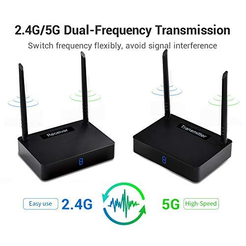 Wireless HDMI Transmitter and Receiver measy HD585 Extender/Adapter/Dongle 1150ft Wireless Digital Kit to ()