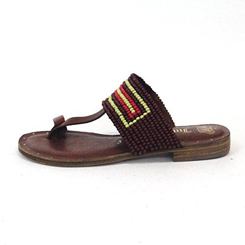Para dedo del pie-Post Juicy Couture y pedrería para mujer T-bar, estándar del Reino Unido 3,5, de £115 negro - marrón