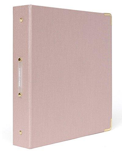 Peony Bookcloth Signature 3 Ring Binder ()