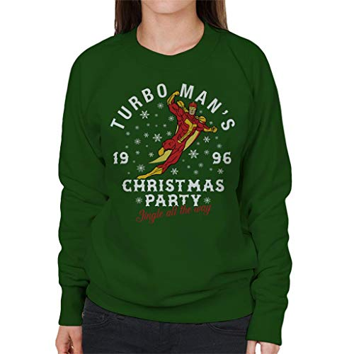 Sweatshirt Way Bottle Jingle Green Christmas Women's Turbomans All The Coto7 Party qpz8POzn