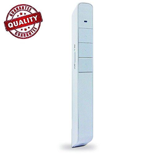 SOKOS Wireless Presenter Support hyperlinks RF 2.4GHz PowerPoint Clicker Presentation, Remote Control Laser Pointer Clicker Flip Pen, 1 piece (White) (White Pointer)