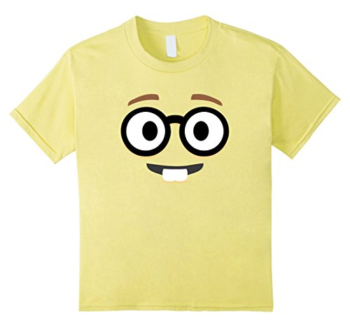 Kids Nerd Glasses Funny Face Emoji tee shirt group couple costume 8 (Nerds Couple Costume)