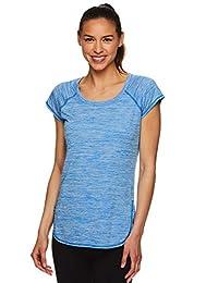 HEAD Women's Studio Short Sleeve Workout T-Shirt - Marled Performance Crew Neck Activewear Top