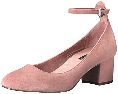 STEVEN by Steve Madden Women's Vassie Dress Pump, Pink Suede, 7.5 M US (Steven Pumps Suede)