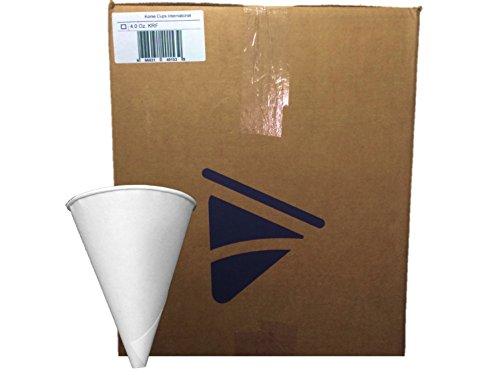 Funnel Case Pack (Konie Funnel - 4.0KRF Recyclable Paper Cone Lab Funnel, 4 oz Disposable - 1 Case of 5,000 Funnels {Tazas de cono de embudo})