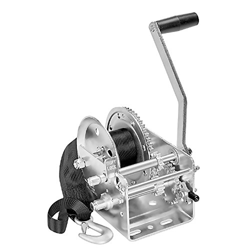 Fulton 142415 Dual Speed Winch with 20' Strap - 2600 lbs. Capacity, 1 Pack (Speed Handle Grip Winch)