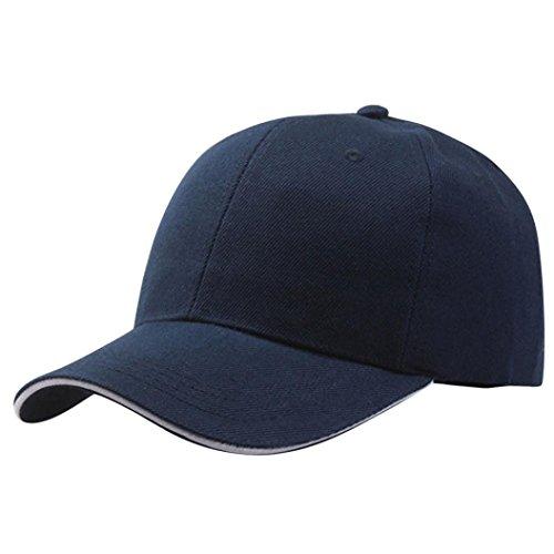 BCDshop Unisex Baseball Cap Snapback Hat Adjustable Casual Outdoor Sport Hat (Navy)
