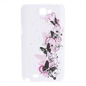 Elegant Design Butterfly Pattern Hard Case for Samsung Galaxy Note 2 N7100
