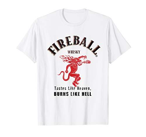 Drinking T-shirt Wine - Needs A Fireball Whisky Bottle Wine Drinking Tshirt