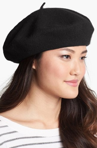 Classic Wool Beret By Parkhurst (Black)