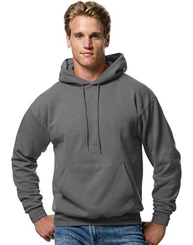 Jumper Smoke Mens New (Hanes ComfortBlend EcoSmart Men`s Pullover Hoodie Sweatshirt Smoke Gray)