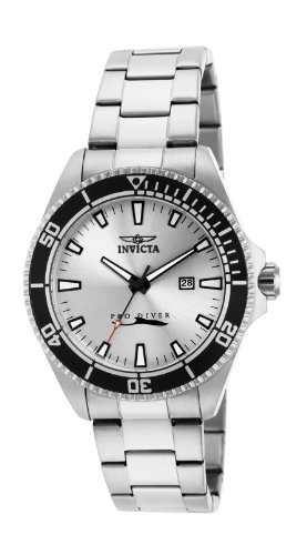 Invicta Men's Quartz Watch with Silver Dial Analogue Display and Silver Stainless Steel Bracelet (Silver Dial Analogue Display)