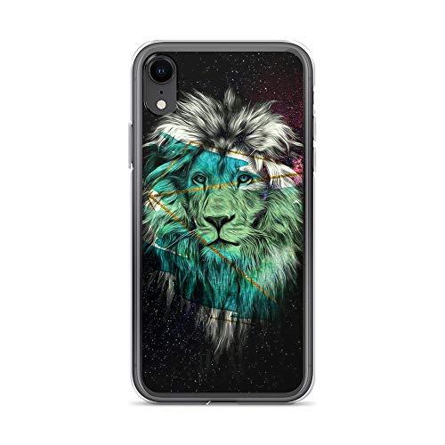 iPhone XR Pure Clear Case Cases Cover Lion Face Galaxy Portrait Artwork]()