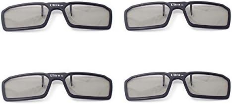 4 pares de negro pasivo Universal Clip estándar nuevo 3D gafas ...