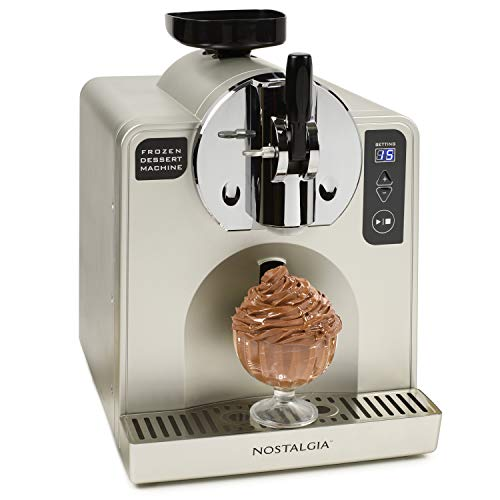 Nostalgia FDM1 Soft Serve Ice Cream & Frozen Dessert Machine, 1-Quart, Stainless Steel