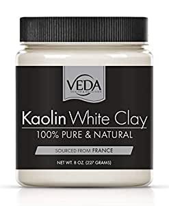 NEW! VEDA Kaolin White Clay   100% Pure   From Natural French Clay Deposits   8 oz. (227 grams)