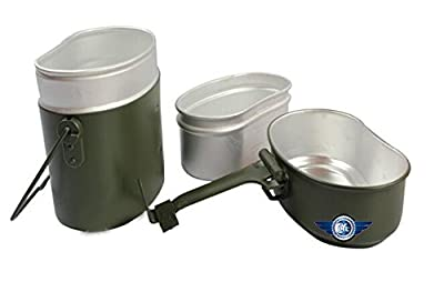 Army Lunch Box Soldier Set Military Mess Kit Canteen Kettle Pot Food Cup Bowl