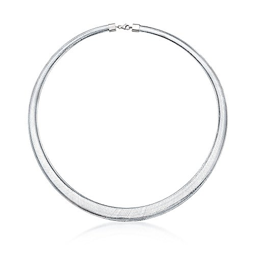 Ross-Simons Italian Flex Omega Necklace With Sterling Silver (Wire Necklace Italian)
