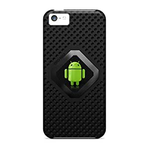 New Premium PortableLife Graphite Droid Skin Case Cover Excellent Fitted For Iphone 5c