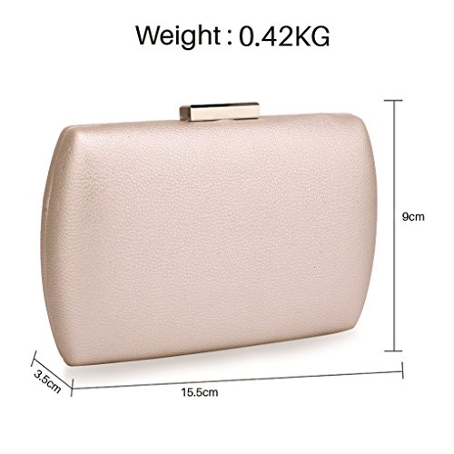 CASE CLUTCH Handbags Hard Party Purse Case Night For Clutch Women's IVORY Wedding Dinner HARD Evening LeahWard Out qBHZwf