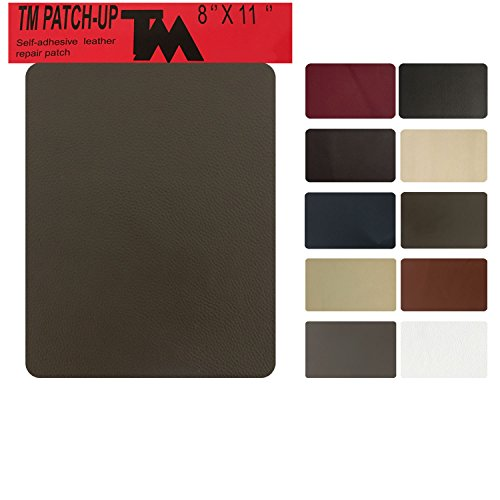 UPC 632096592338, TMgroup , leather couch patch, genuine faux leather repair patch , peel and stick for couch , sofas , car seats , hand bags ,furniture, jackets , large size 8-inch x 11-inch (Medium Brown)