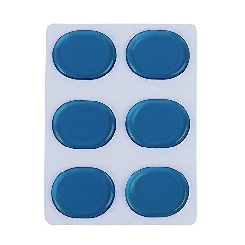- Muslady 6pcs/set Drum Damper Gel Pads Snare Tom Drum Muffler Mute Blue Color