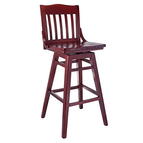 SD-2Bsw-M Solid Beech Wood Swivel bar Stool in Mahogany for Kitchen & Dining, NA ()