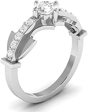 Amazon Com Suhana Jewellery Batman Ring Collection 14k White Gold