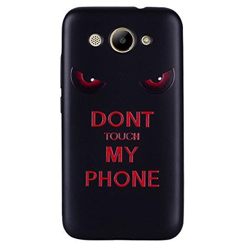 Huawei Y3 2017 Hülle Case, Cozy Hut® [Liquid Crystal] Ultra Dünn [Crystal Case] Transparent Soft-Flex Handyhülle / Bumper-Style Premium-TPU Silikon / Perfekte Passform / Kratzfest Schutzhülle für Huaw Dunkle Augen