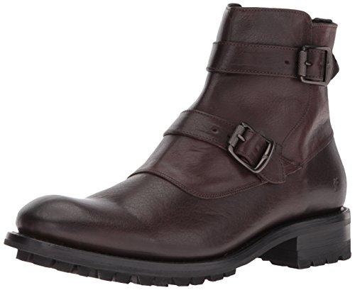 FRYE Men's Stanton Moto Motorcycle Boot - Dark Brown - 12...