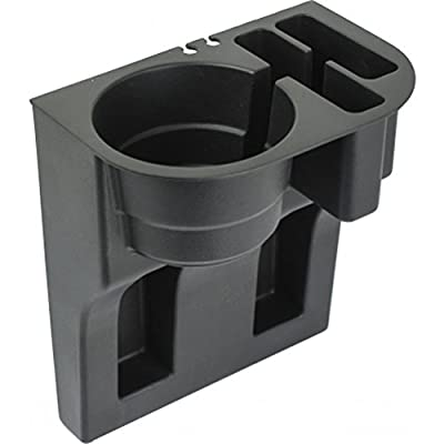 Custom Accessories 91129 Black Mobile Device Organizer with Cup Holder: Automotive