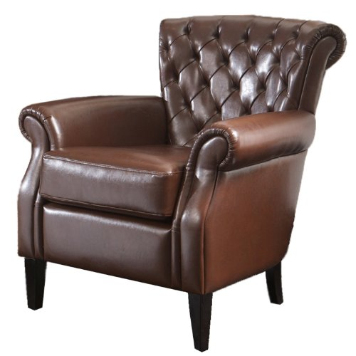 Best Selling Franklin Bonded Leather Club Chair, Brown
